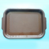 Small Serving Tray with Handles - Brown