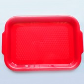 Small Serving Tray with Handles - Red