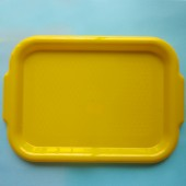 Small Serving Tray with Handles - Yellow